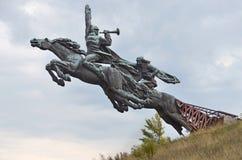Lvivgebied, de Oekraïne, 16 September, 2013 Het monument aan het Eerste cavalerieleger Royalty-vrije Stock Afbeelding