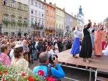 LvivKlezFest, Lviv Ukraine. A live performance at the LvivKlezFest, Lviv Ukraine Stock Photos