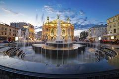 Lvivtheater van Opera en Ballet stock fotografie