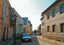 lvov中世纪老街道乌克兰 免版税库存图片