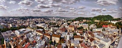 Lvov的全景,乌克兰 库存图片
