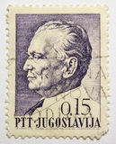 Lvov,乌克兰, 07 05 2017年 葡萄酒邮票的约瑟普・布罗兹・铁托, Jugoslavija 免版税库存图片