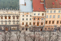 Lvov central histórico Fotografía de archivo