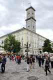 Lvov city on the eve of EURO 2012 Royalty Free Stock Images