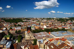 Lvov city view Royalty Free Stock Photo