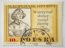 Lvov, de Oekraïne, 07 05 2017 M Kopernik zegel Polen 1951 Stock Afbeeldingen