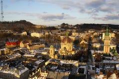 Lvov en el invierno Foto de archivo