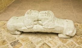 Lvov, lion bench Royalty Free Stock Images