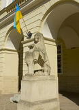 Lvov, lion in town hall Stock Images