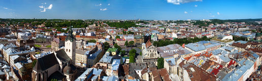 Lvov miasta widok Obraz Stock
