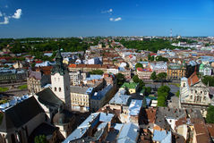 Lvov miasta widok Obrazy Royalty Free