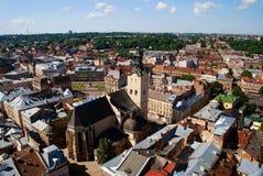 Lvov miasta widok Fotografia Stock