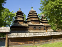 Lvov, museum of wooden architecture Stock Photo