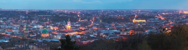 Lvov Panoram Stock Foto