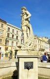 Lvov springbrunn Royaltyfri Fotografi