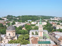 Lvov town panorama Royalty Free Stock Photo