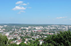Lvov town panorama, Ukraine Stock Images