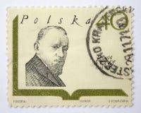 Lvov, Ucrania, 05 05 2017 Sello, Leopold Staff 1878-1957 Fotos de archivo libres de regalías
