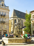 Lvov, Ukraine, fountain Neptune Stock Photo