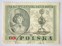 Lvov, Ukraine, 07 05 2017 M Kopernik estampille La Pologne 1951 Photo stock