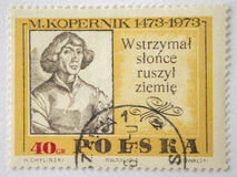 Lvov, Ukraine, 07 05 2017 M Kopernik stempel Polen 1951 Stockbilder