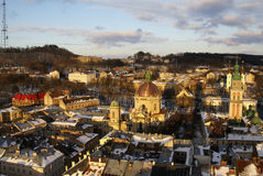 Lvov in the winter Stock Photo