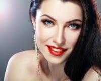 Lèvres de rouge de charme Photos libres de droits