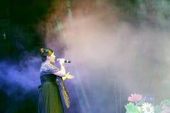 Lvshuangshuang певицы поет Стоковая Фотография