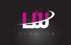 LW L W Creative Letters Design With White Pink Colors Royalty Free Stock Image