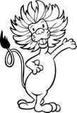 lwa czarny biel Zdjęcia Stock