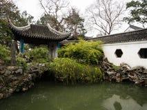 Lwa gaju ogród, klasyczny chińczyka ogród i część Unesco światowe dziedzictwo w Suzhou, obrazy stock