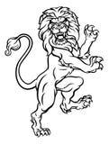 Lwa grzebienia Heraldyczny żakiet ręki ilustracji