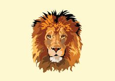 Lwa kalkowania sztuki Kierowniczy Wektorowy projekt royalty ilustracja