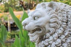 Lwa kamień na ogródzie Obraz Royalty Free