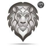Lwa Kierowniczy logo projekta ilustraci zapasu use wektor twój Fotografia Stock