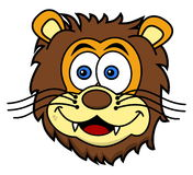 Lwa kierowniczy ono uśmiecha się royalty ilustracja