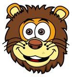 Lwa kierowniczy ono uśmiecha się ilustracja wektor