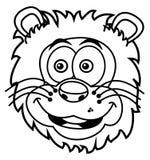 Lwa kierowniczy ono uśmiecha się dla barwić ilustracji