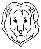 Lwa loga czarny kontur obrazy royalty free