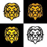 Lwa logo lub maskotki Kierowniczy Wektorowy projekt ilustracja wektor