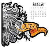 Lwa tatuaż ilustracji