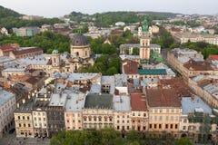 Lwa widok miasto od urzędu miasta Zdjęcie Stock