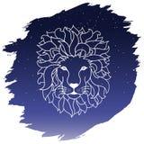 Lwa zodiak również zwrócić corel ilustracji wektora Obrazy Royalty Free