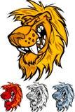 Löwe-Maskottchen-Zeichen Stockfotografie
