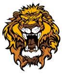 Löwe-Maskottchen-Zeichen Lizenzfreies Stockfoto