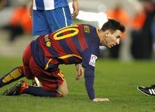 Löwe Messi von FC Barcelona Stockfotografie