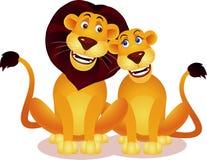 Löwepaare Lizenzfreies Stockbild