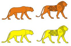 lwy Obraz Stock