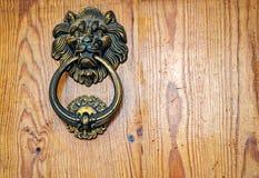 Lwy przewodzą drzwiowego knocker Obrazy Stock