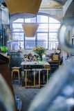 LxFactory, σύγχρονα αγορές και ένα κέντρο πολιτισμού στη Λισσαβώνα Στοκ Φωτογραφία